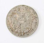 Nürnberger Konventionstaler 1765Silbermünze; Gew.: 28 g.