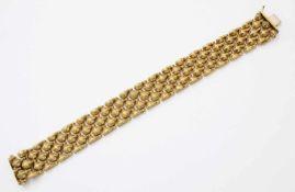 Gelbgold-ArmbandGG 333, zeitloses Gliederarmband, doppelter Sicherheitsverschluss, Länge: 20 cm,