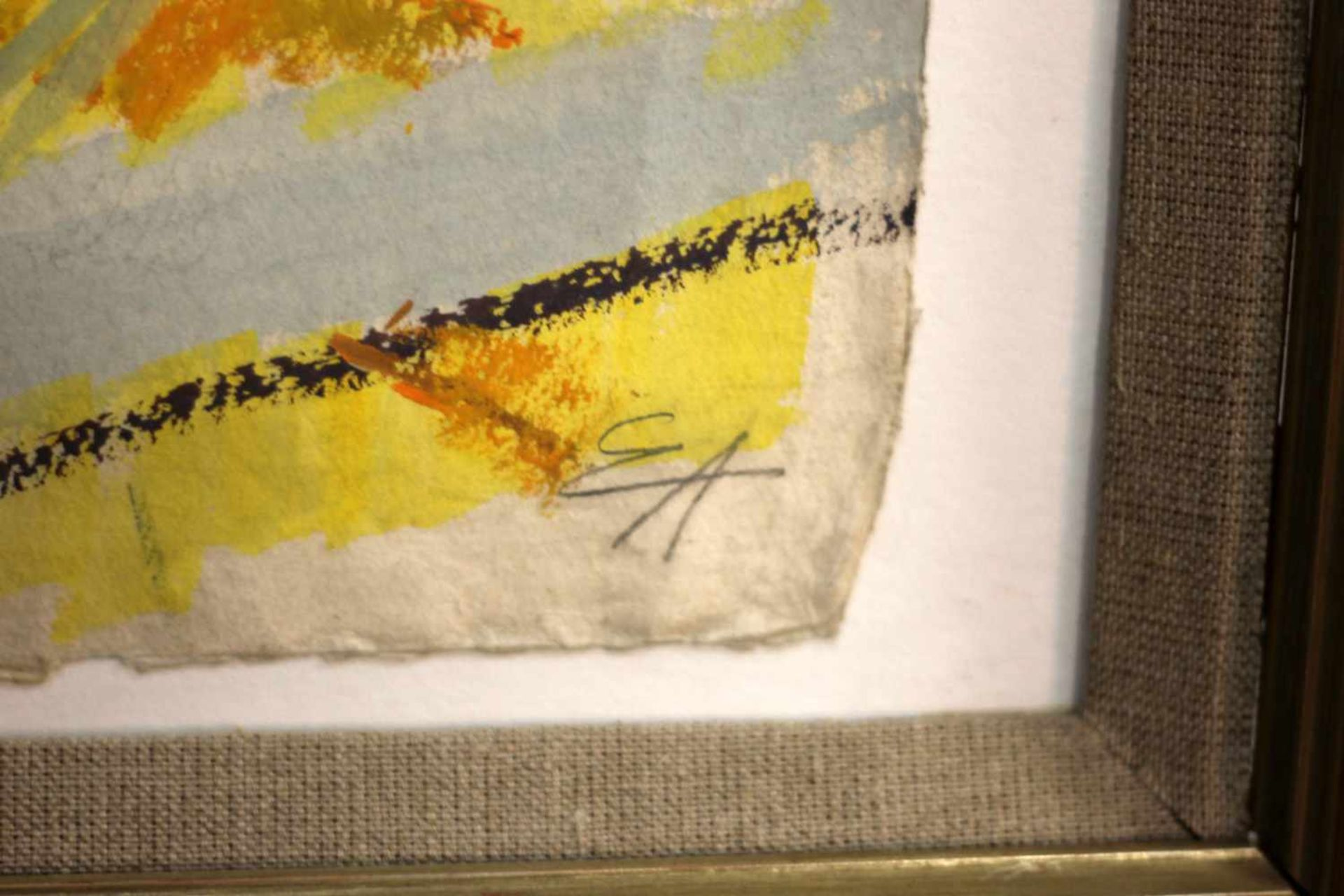 """""""Pferd an der Heutraufe"""" - Eduard Aigner (1903-1978)Aquarell auf dickem Papier, unten rechts - Bild 3 aus 3"""
