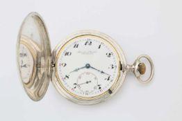 Savonette Herren-Taschenuhr IWCSilber; IWC (Int. Watch Co./Schaffhausen); Cal. 58,H6; 19-linig; 15-
