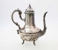 Silberne Kaffeekanne - Flamand & Fils, Frankreich nach 1838Silberne Garantie- und Feingehaltspunze