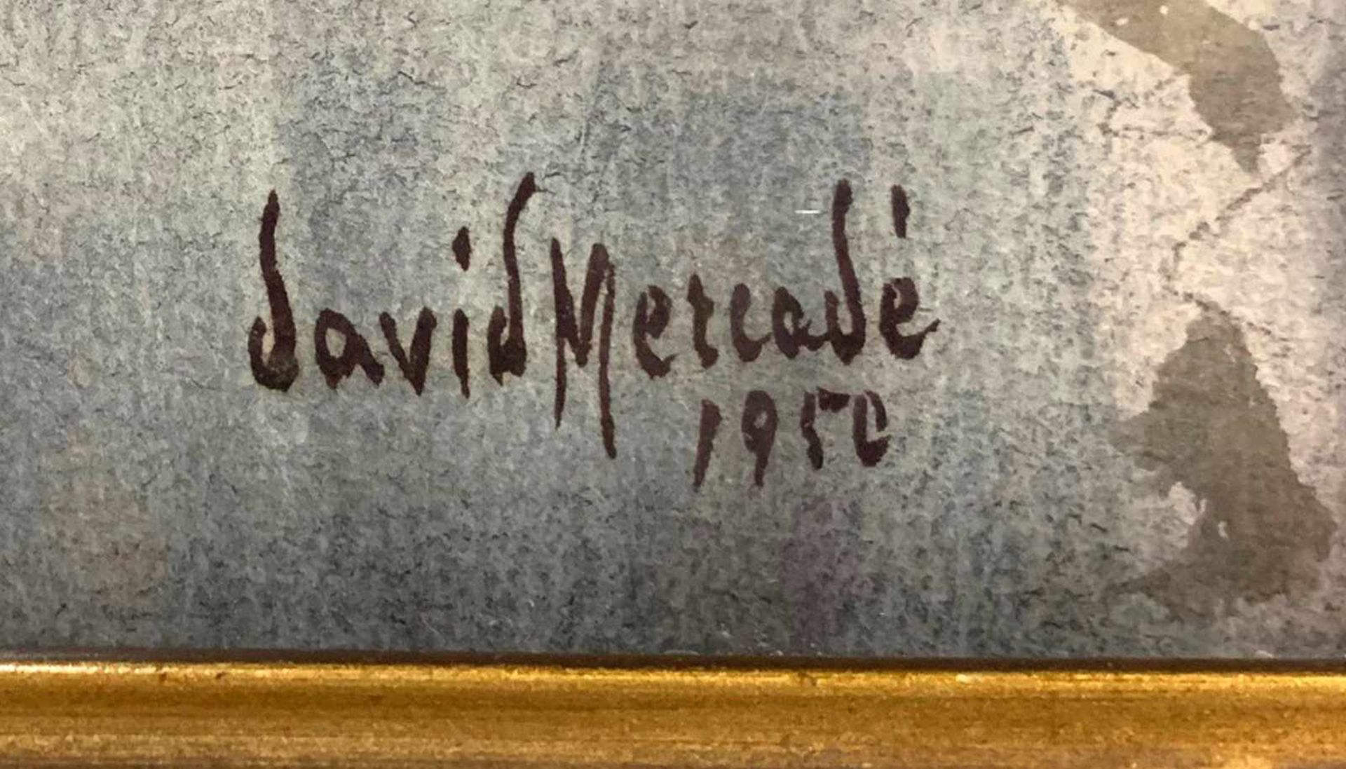 """""""Fischerboote im Hafen"""" - David Mercadé Recasens (20. Jahrhundert)Aquarell auf Papier, unten - Bild 3 aus 3"""