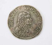 2/3 Taler - 1676 Mecklenburg-Schwerin - Christian Ludwig I. (1658-1692)Silbermünze; Gew.: 18,49 g.