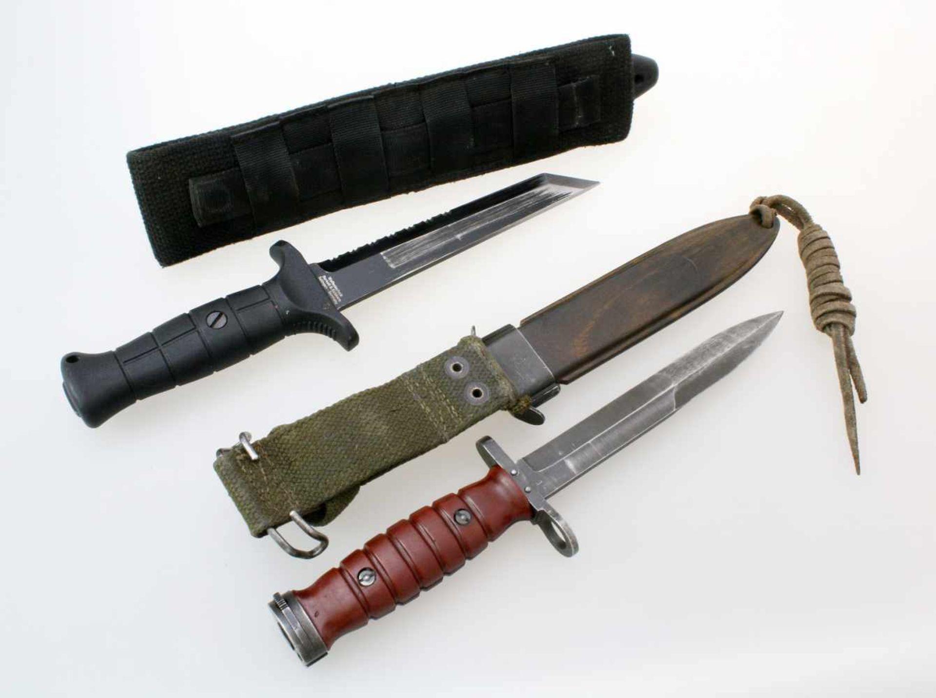 BW Mehrzweckmesser KM2K & Messerbajonett n. Muster M4 zum Carbine M11x BW Mehrzweckmesser KM2K. - Bild 2 aus 2