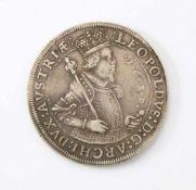 1 Taler - Habsburger Monarchie Leopold V. von Österreich - Tirol 1630Silbermünze; Gew.: 28,1 g.