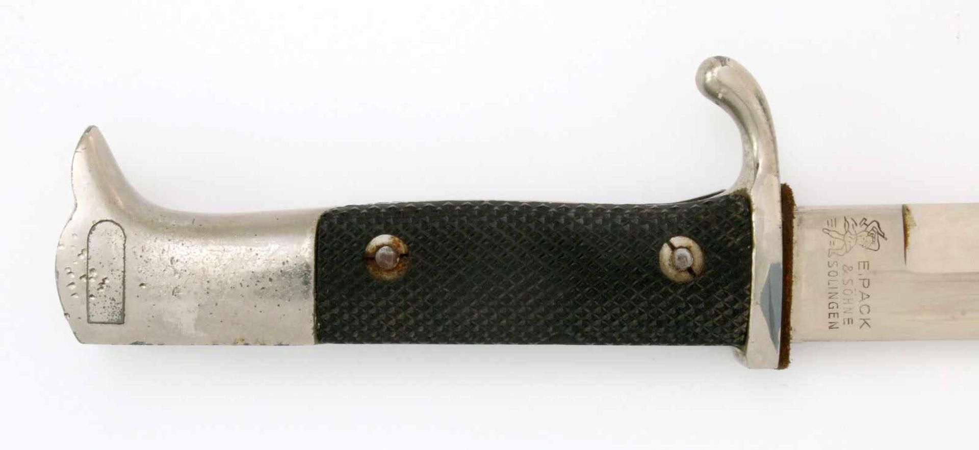 Deutsches Reich - Extra-Seitengewehr 1884/98Aufpflanzbares Eigentumsstück. Blanke, vernickelte, - Bild 4 aus 4