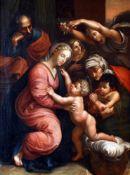 "Barockgemälde ""Heilige Familie"" - Johan Ludwig Öhme (18. / 19. Jahrhundert)Öl auf Leinwand, guter"
