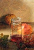 """""""Stillleben mit Glas und Früchten"""" - Carl Fleischmann (1853-1936)Öl auf Leinwand, unten links"""