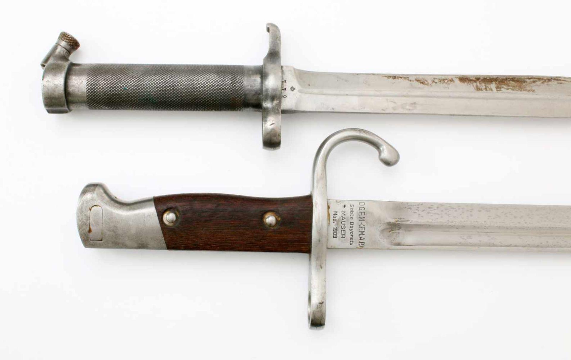 Schweden / Argentinien - 2 Bajonette1x Argentinien Bajonett M1909. Gekehlte Rückenklinge, - Bild 4 aus 4