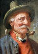 """""""Pfeiffenraucher"""" - Fritz Wagener (Wagner) (1896-1939)Öl auf Leinwand, oben rechts signiert,"""