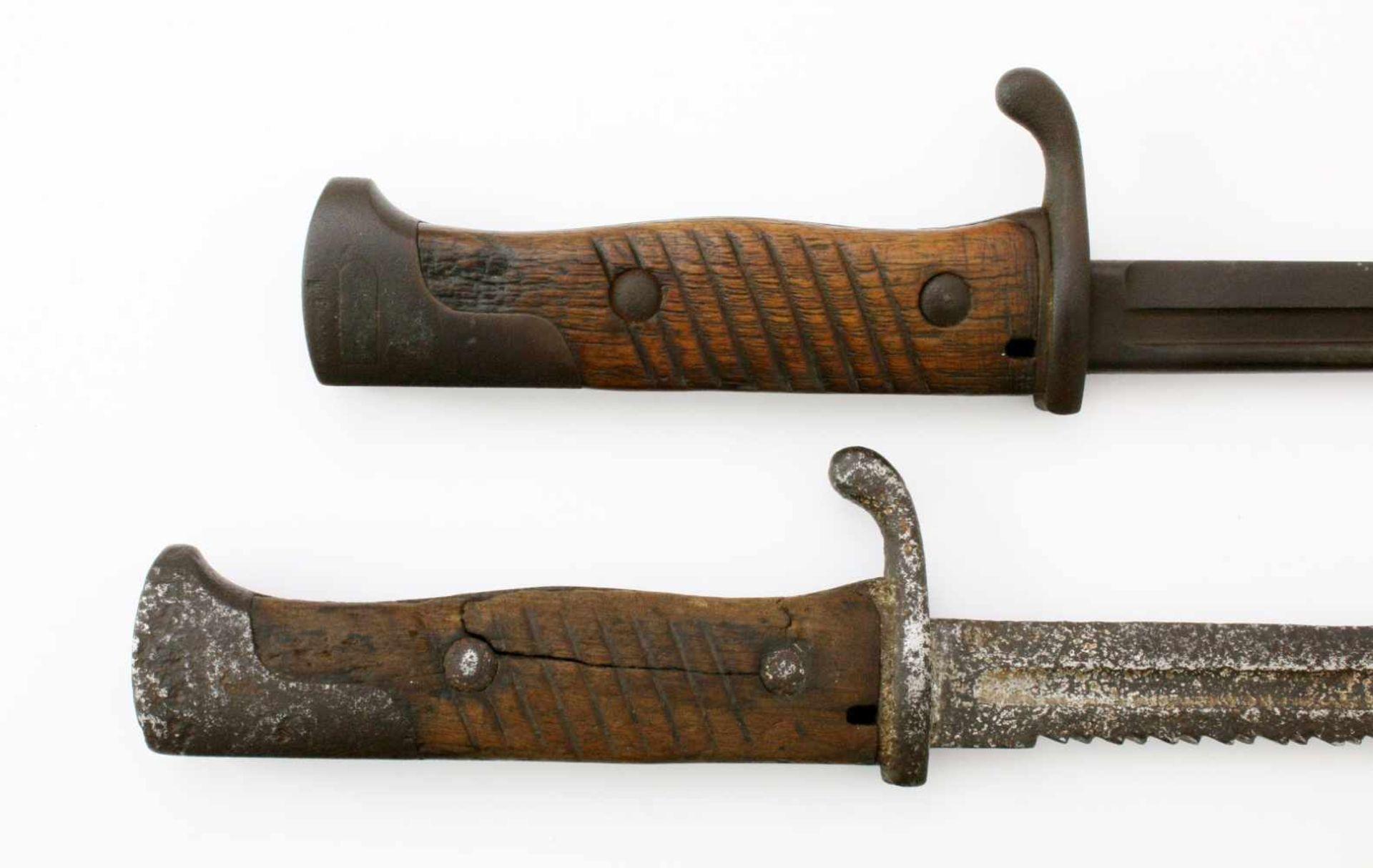 Deutsches Reich / Preußen - 2 Seitengewehre M18981x SG 1898, Steckrücken-Klinge mit Schör, - Bild 4 aus 4
