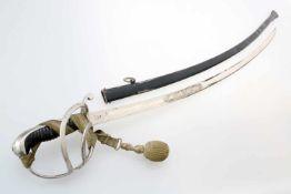 Königreich Bayern - Extrasäbel M1826Eigentumsstück. Vernickelte, beidseitg gekehlte Rückenklinge,