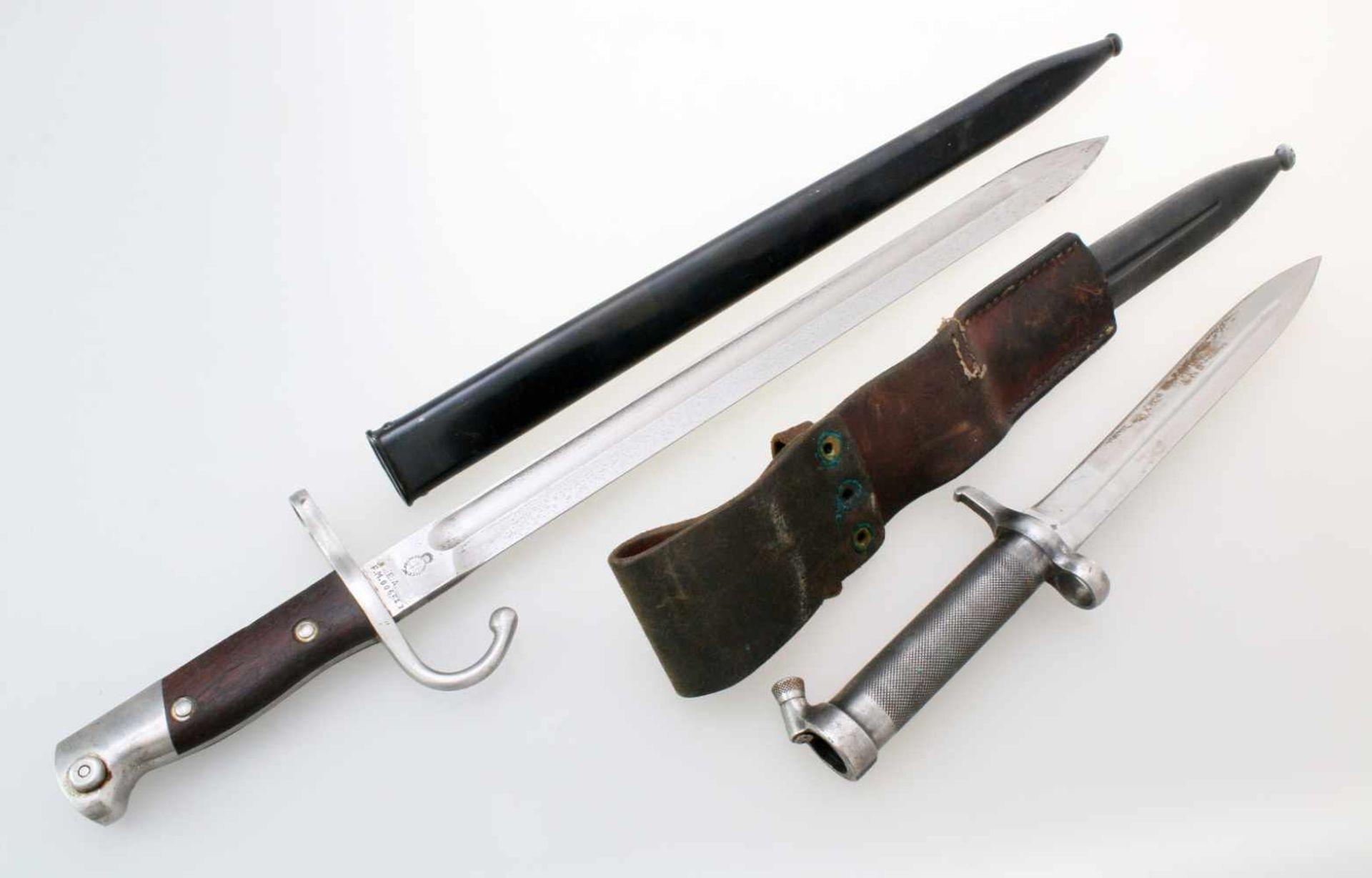 Schweden / Argentinien - 2 Bajonette1x Argentinien Bajonett M1909. Gekehlte Rückenklinge, - Bild 2 aus 4