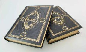 """Prachtbibel """"Die heilige Schrift .."""" - J.F. v. Allioli - Band 1 und 2Schwere, ledergebundene"""
