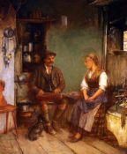 """""""Das Zitherspiel"""" - Paul Felgentreff (1854-1933)Öl auf Leinwand, unten links signiert und bezeichnet"""