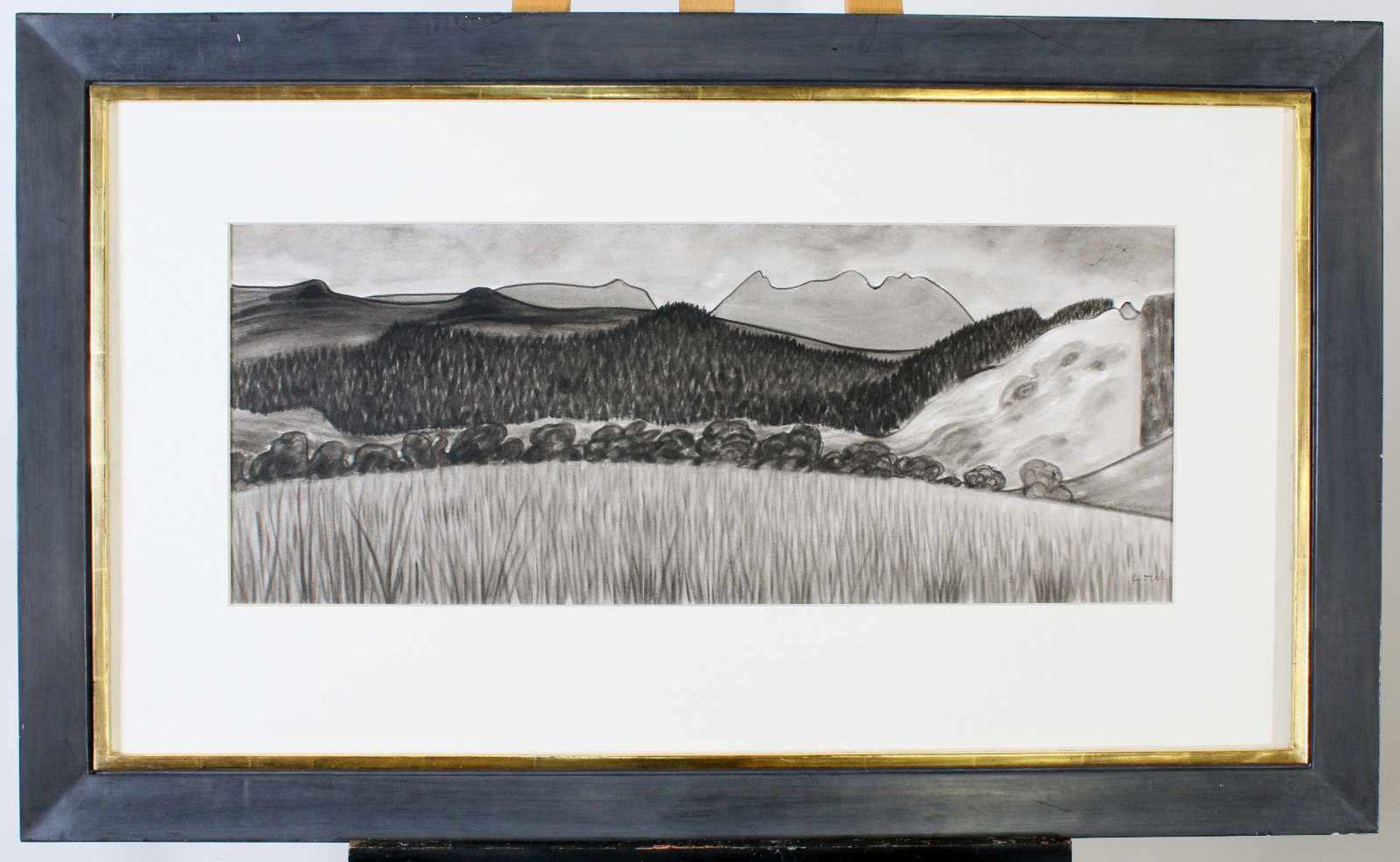 """""""Scottish Landscape"""" - Bet Low (1924-2007)Aquarell auf Papier, schottische Landschaft, unten - Bild 2 aus 2"""