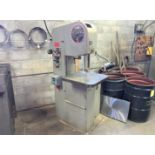 """DoAll Mdl. 1612-0 Vertical Band Saw, 16"""" Throat, 24"""" x 24"""" Tilting Table, Blade Welder and Grinder"""