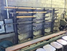 """Cantilever Racks, 110""""L x 20""""D x 80""""T with Contents (Located in Levittown, PA Facility)(There will"""