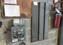 Lot with (2) Time Clocks and Time Card Racks (Located in Levittown, PA Facility)