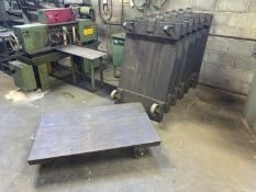 Lot with (8) Wooden Material Carts (Located in Levittown, PA Facility)
