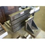 """Adjustable Angle T-Slot Layout Plate 15"""" x 12"""" with 8"""" x 8"""" Angle Plate (Located in Levittown, PA"""