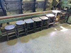 Lot with (7) Metal Stools (Located in Levittown, PA Facility)
