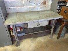 """Lyon Metal Desk, Single Drawer, 60""""L x 28""""W (Contents NOT Included) (Located in Levittown, PA"""