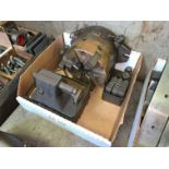 """Rotary Horizontal and Vertical Indexing Head, 6""""Diameter 4-Jaw Chuck, Center and Tooling (Located in"""