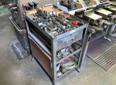 Metal Cart with a Large Quantity of Mill Tooling (Located in Levittown, PA Facility)