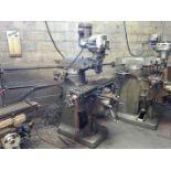 "Bridgeport 1-1/2Hp Vertical Milling Machine, Knee Type, 42"" x 9"" T-Slot Table with Power Cross Feed,"