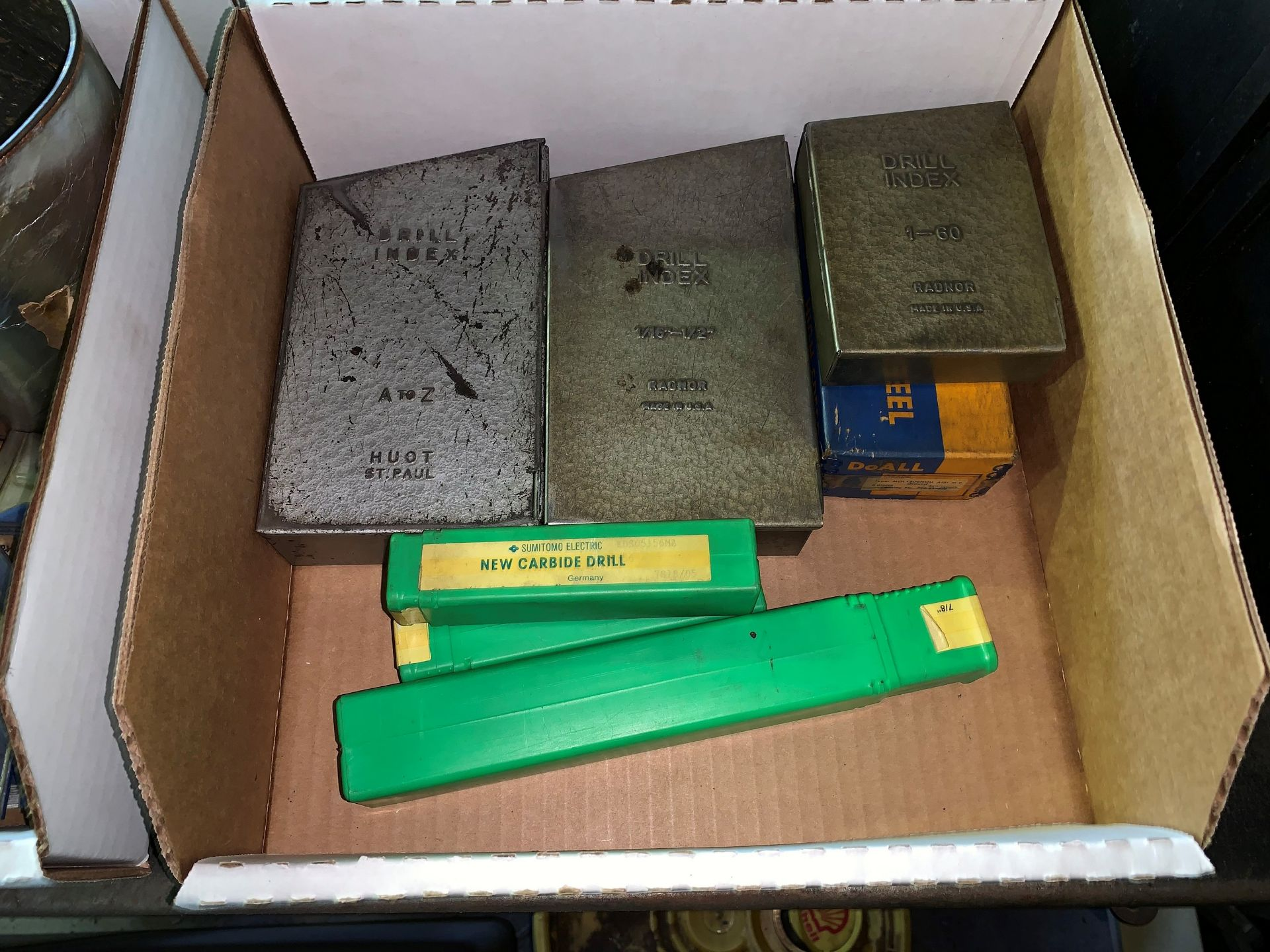 Lot 81 - Lot with (3) Sets of Drill Indexes along with Drill Bits (Located in Levittown, PA Facility)