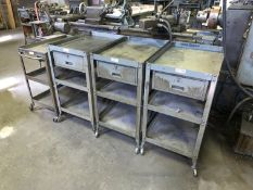 """Lot with Various Carts including (3) Lyon Single Drawer 28""""L x 20""""W x 36""""T Carts and (1) Single"""