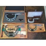 Lot with (4) Groove Micrometers (Located in Levittown, PA Facility)