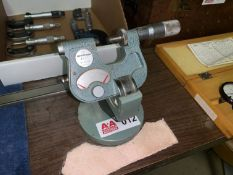 Mitutoyo Micrometer with Stand