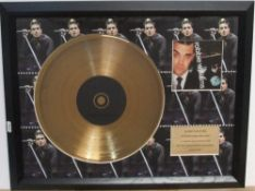 """Robbie Williams, limited edition """"I've been expecting you"""" 68/1500 with COA, framed 38 x 51 cm"""