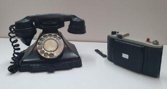 "Vintage Bakerlite telephone and a Kodak ""sterling II"" camera"