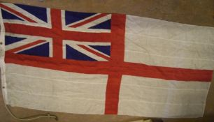 2 early/mid 20thC British flags to include a St Georges Ensign & a Queen Elizabeth Royal Standard,