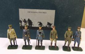 Boxed frontline figures - 6 WW1 generals, complete with papers