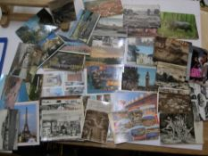 Approx 170 20thC postcards, both used and unused B&W & colour examples