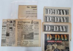 Interesting collection of WW2 newspapers, D-day etc (11 items in total)