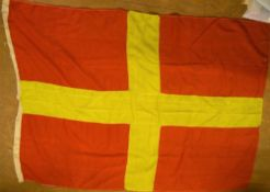 Early/mid 20thC Marine International communication flag - R for Romeo, 106 x 144 cm