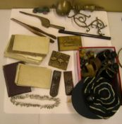 Good collection of various antique and vintage collectables (Qty) to include binoculars, old maps,