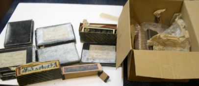 Box full of The Autochrome Lumière plates with original A Lumiere labels and original boxes full