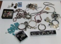 Large Collection of costume jewellery, necklaces rings etc.