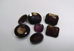 7 Garnets, various cuts, approx 25.5 cts