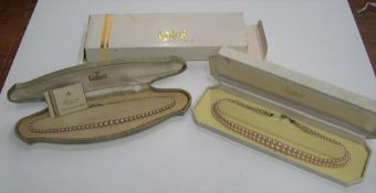 2 vintage pearl necklaces', both boxed by Lotus