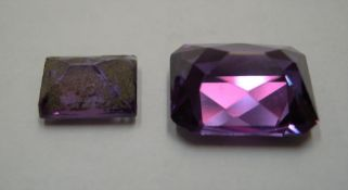 2 Sapphires, approx 11cts total the 2 stones measure approx 13 x 10mm & 9 x 7 mm