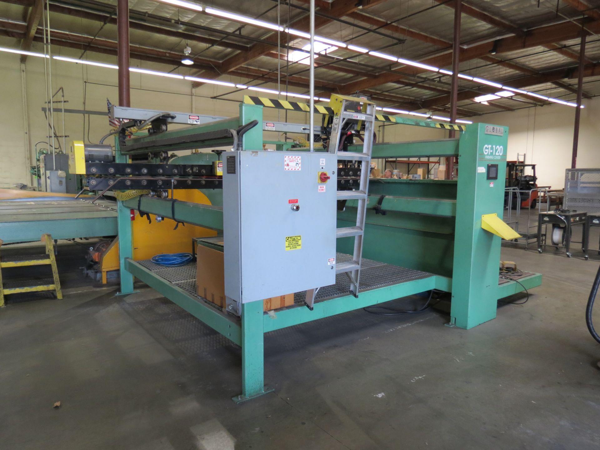Lot 1 - Global GT-120 Finishing Center Glue Machine with Benchmark Hot Melt