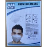 Boxes of KN95 Face Masks (Sold by the Box, Bid Multiplied by 64) Face Masks Marked KN95 But NOT