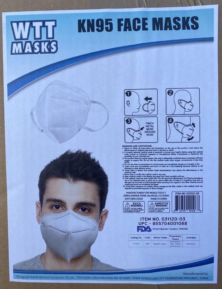 Face Masks Marked KN95